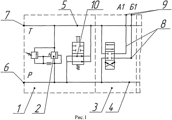 Секционный гидрораспределитель с электрогидравлическим распределителем разгрузки