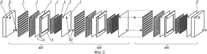 Топливный элемент и батарея топливных элементов