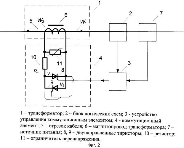 Устройство для ограничения токов короткого замыкания в линии электропередачи