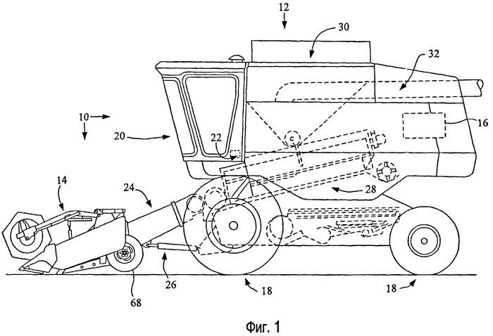 Плавающая система жатки для использования с сельскохозяйственным виндроуэром или комбайном