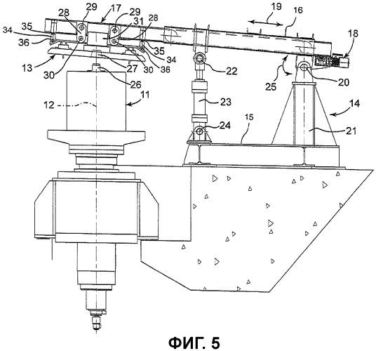 Усовершенствованный станок для намотки проволоки, поступающей из прокатного стана, в бунт