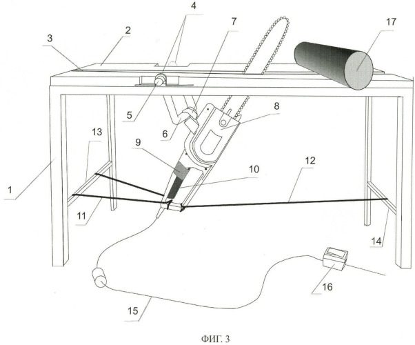 Распилочный станок для ручной цепной электрической пилы