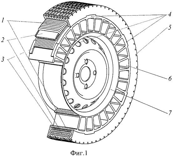 Способ армирования автомобильных шин с упругими спицами и матрица для изготовления колес