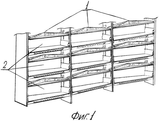 Пресс-стеллажная система для производства изделий из вспенивающихся материалов