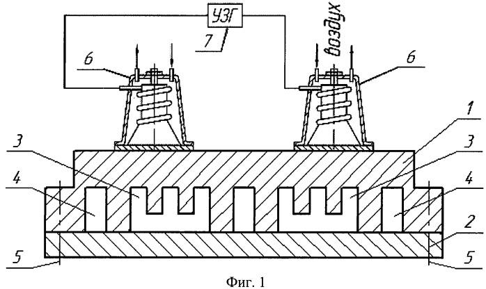 Двухканальная экструзионная головка для изготовления полимерного профильного полозка с применением ультразвуковых колебаний