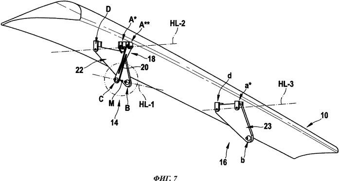 Крыло воздушного или космического судна, содержащее подвижное обтекаемое тело