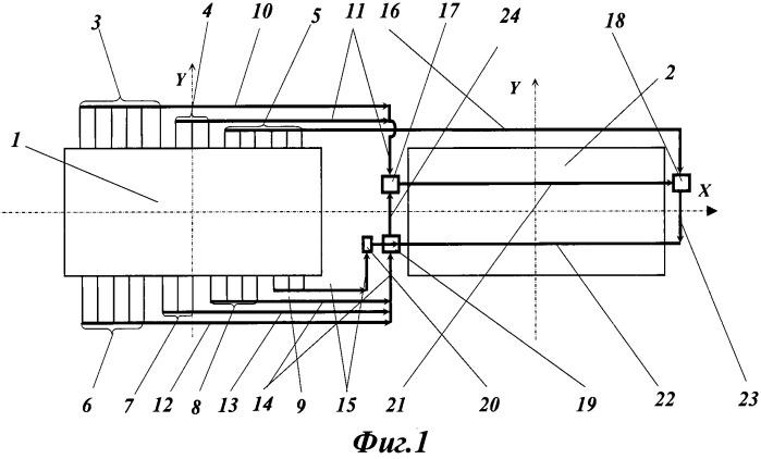 Ошиновка электролизера для получения алюминия