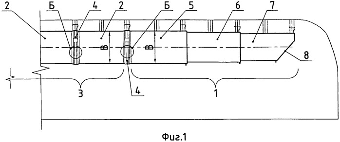 Трубопровод для проветривания тупикового забоя