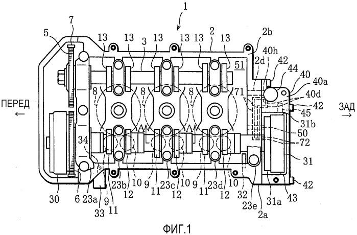 Двигатель с регулируемым клапанным механизмом