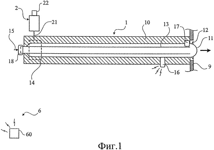 Способ измерения параметров в печи энергетического котла с использованием обдувочного аппарата