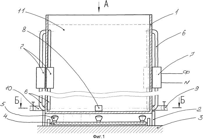 Способ получения растворов в вертикальной емкости прямоугольного сечения, нагреваемой, в основном, со стороны днища, например для работы шлихтовальной машины ткацкого производства