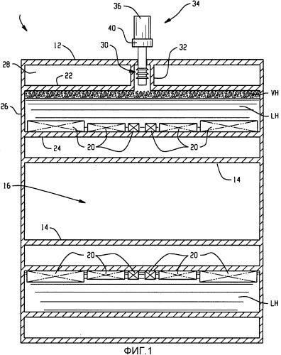 Теплообменник с горизонтальным оребрением для криогенного охлаждения с повторной конденсацией