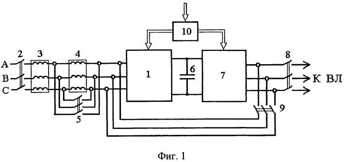 Комбинированная установка для плавки гололеда и компенсации реактивной мощности