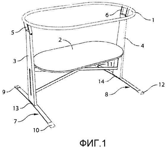 Кроватка для младенцев с функцией колыбели