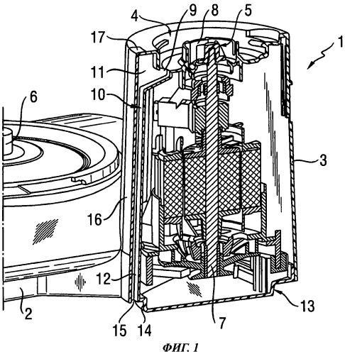 Кухонный прибор со средствами для отвода загрязнений