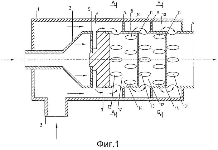 Способ перемешивания жидких и газообразных сред и статический смеситель для его осуществления
