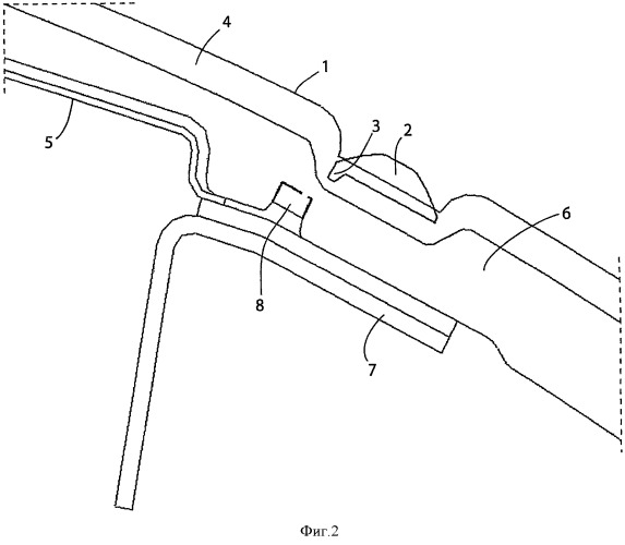 Система для закрытия декоративной обшивки передней панели автомобиля, предназначенная для надлежащего раскрытия дверцы встроенной подушки безопасности