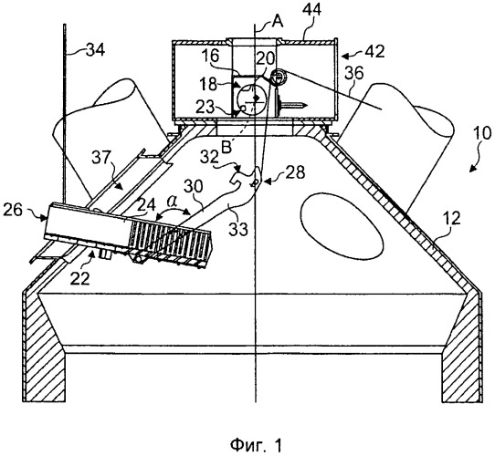 Загрузочное устройство шахтной печи и соответствующий распределительный желоб