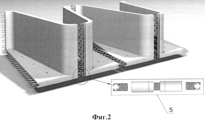 Способ возведения тонкостенного лабиринтного водослива из сборных железобетонных элементов