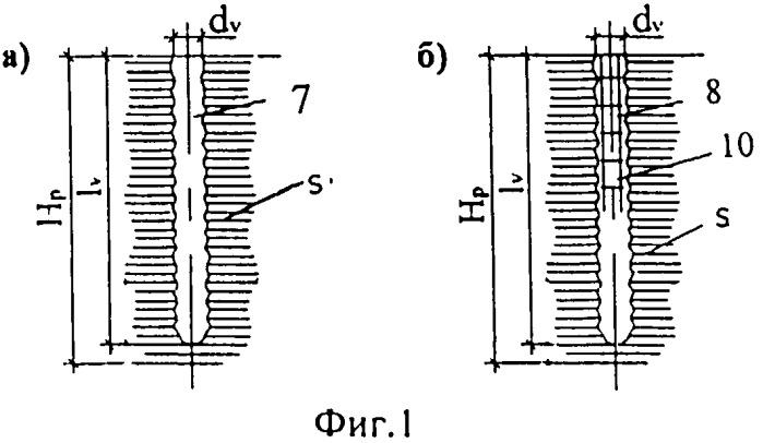 Способ устройства армопреобразующих бетонолитных набивных свай в слабых водонасыщенных грунтах