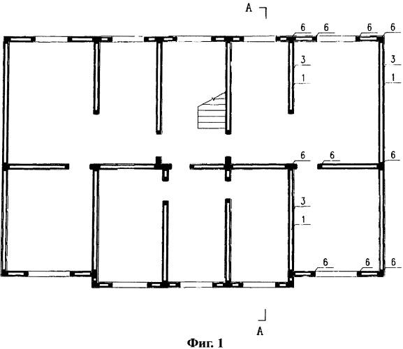 Бетонное здание с легким стальным объемным каркасом и способ его сооружения