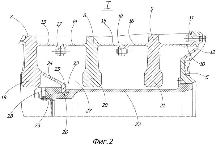 Многоступенчатая газовая силовая турбина