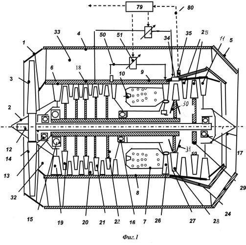 Газотурбинный двигатель и способ регулирования радиального зазора в турбине газотурбинного двигателя