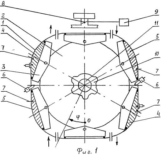 Бескривошипный роторно-поршневой двигатель внутреннего сгорания изменяемой мощности