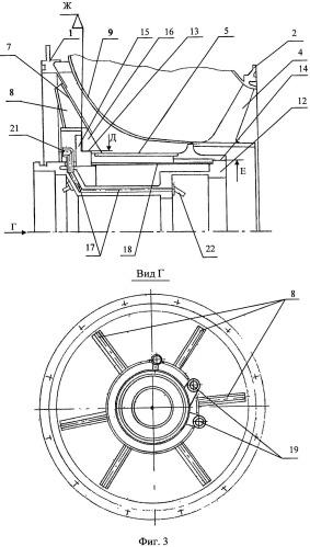 Газосборник газотурбинного двигателя