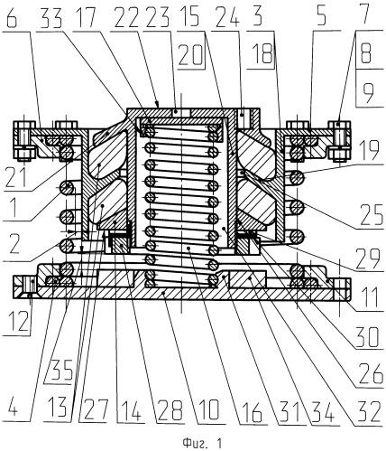 Виброизолятор низкочастотный большой грузоподъемности разгруженный (внбгр)
