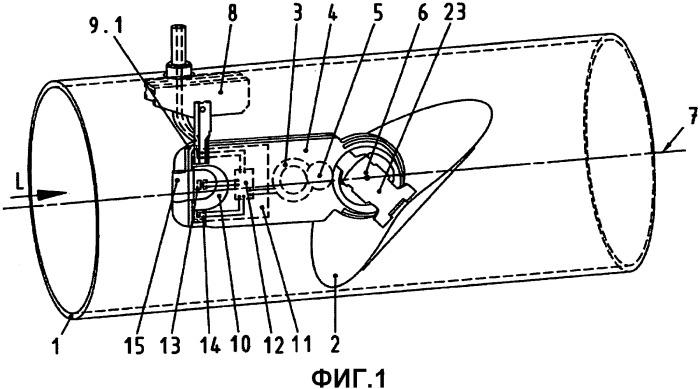 Устройство для измерения и регулирования объемного потока в вентиляционной трубе