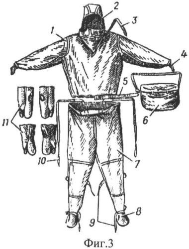 Защитный костюм спасателя для работы в условиях низких температур