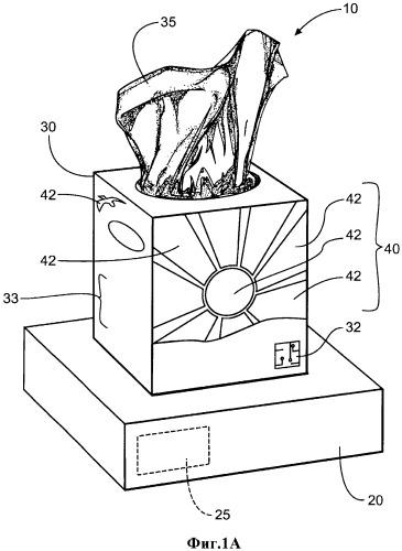 Упаковочный комплект с элементом, воздействующим на органы чувств