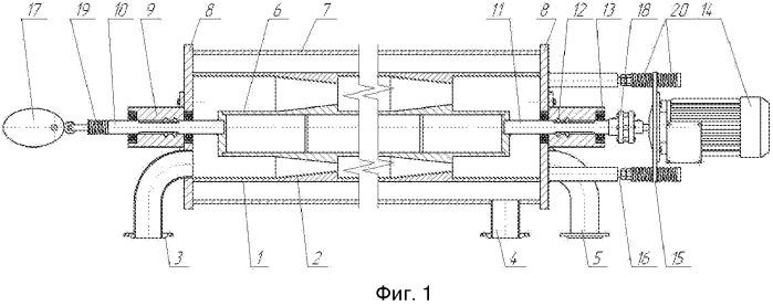 Мембранный аппарат с неустановившейся гидродинамикой