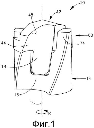 Режущий инструмент со съемно установленной самозажимной режущей головкой