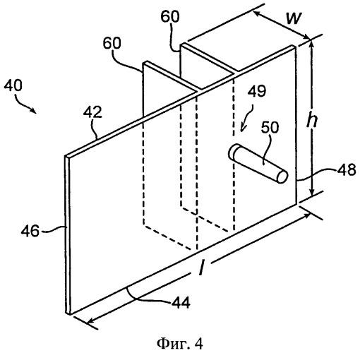 Корпус с встроенной опорой для мотка проволоки и встроенным разделителем