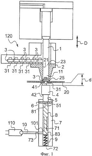 Устройство деформационного крепления элемента на детали