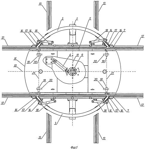 Установка разворота тележек грузовых или пассажирских вагонов
