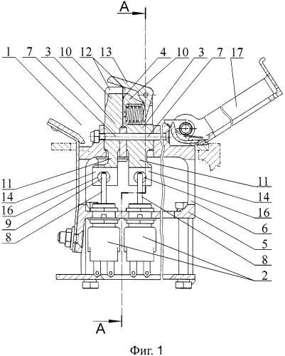 Блок переключателей приводов резервного управления механизацией предкрылков
