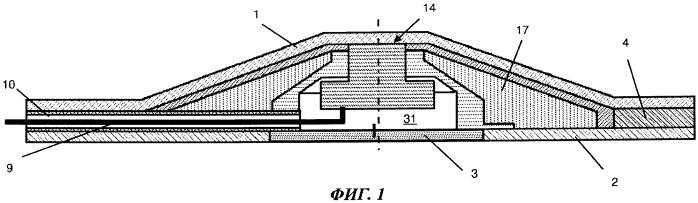 Панель обшивки воздушного судна с ультразвуковым датчиком