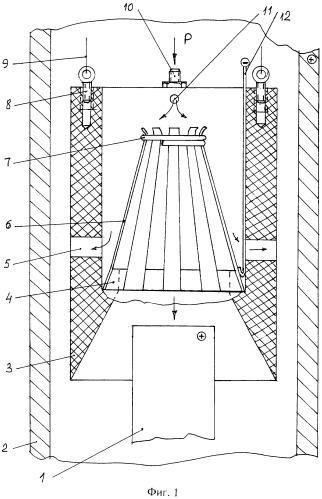 Устройство для разделения на части снаружи упавших в скважину труб методом анодного растворения