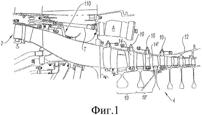 Система управления оборудованием с изменяемой геометрией газотурбинного двигателя, содержащей, в частности, соединение с помощью направляющих дорожек