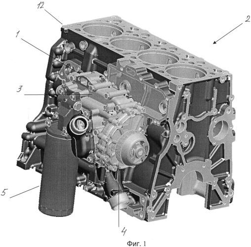 Модуль двигателя внутреннего сгорания, корпус модуля и двигатель внутреннего сгорания