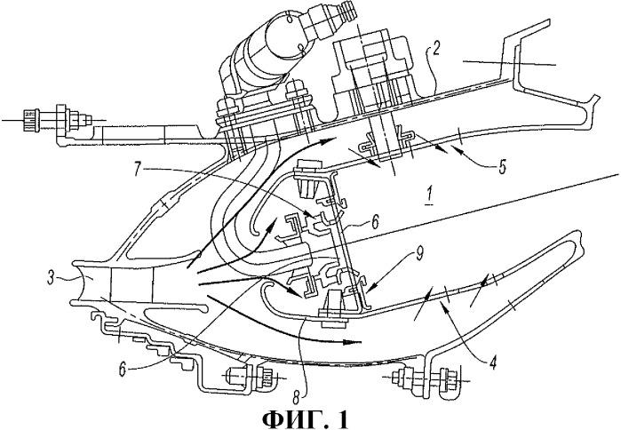 Камера сгорания газотурбинного двигателя, содержащая дефлекторы, изготовленные из композитного материала с керамической матрицей (смс)