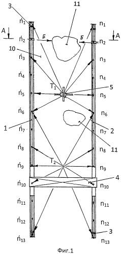 Способ определения планово-высотного положения крановых путей козлового крана
