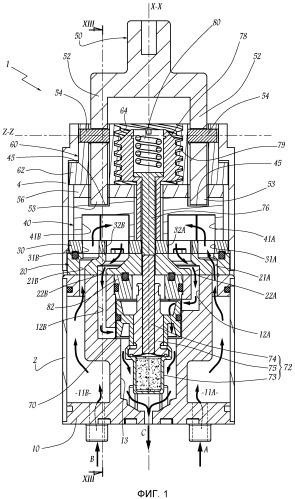 Термостатический патрон с управлением от одной рукоятки и водоразборный кран-смеситель, имеющий в своем составе такой патрон