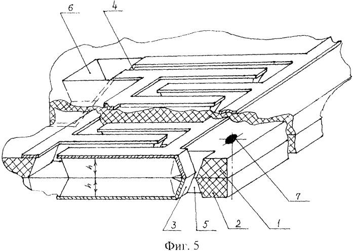 Объемный микроблок вакуумных интегральных схем логических свч-систем обратной волны