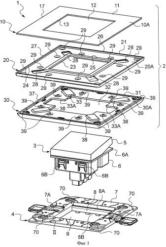 Облицовочная накладка электрического прибора