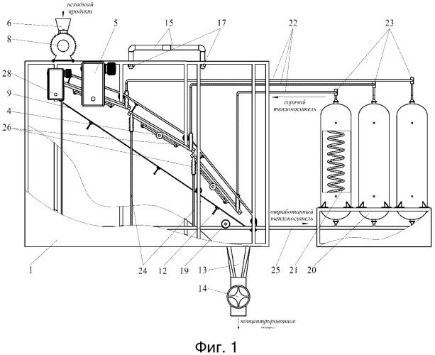 Каскадный вакуум-выпарной аппарат