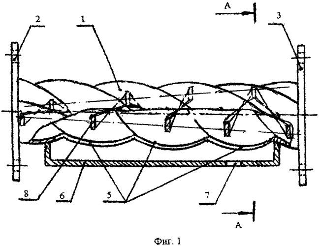 Сепаратор прямоточный для отделения дисперсных частиц от газа